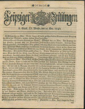Leipziger Zeitungen on Dec 26, 1741