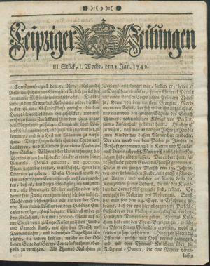 Leipziger Zeitungen vom 03.01.1742