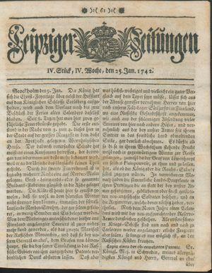 Leipziger Zeitungen vom 25.01.1742