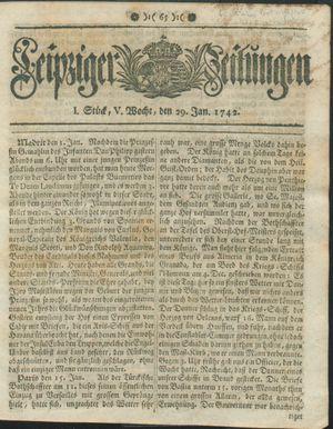 Leipziger Zeitungen vom 29.01.1742