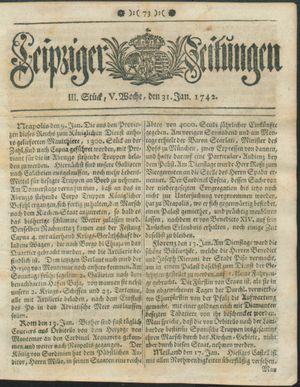 Leipziger Zeitungen vom 31.01.1742