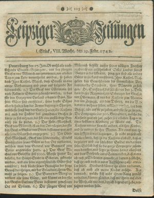 Leipziger Zeitungen on Feb 19, 1742