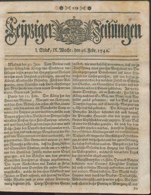 Leipziger Zeitungen vom 26.02.1742