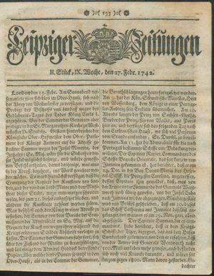 Leipziger Zeitungen vom 27.02.1742