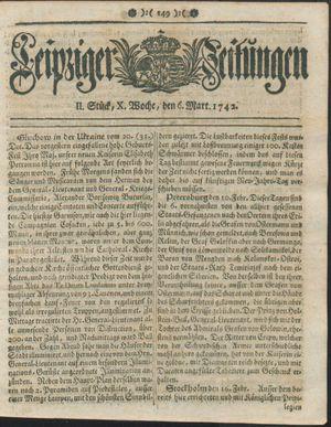 Leipziger Zeitungen vom 06.03.1742