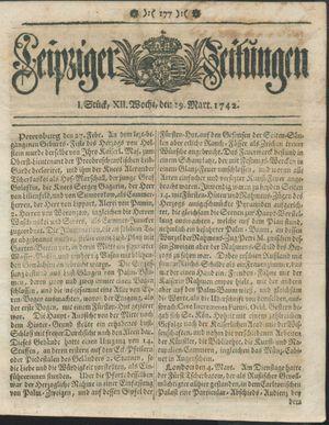 Leipziger Zeitungen on Mar 19, 1742