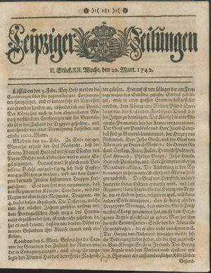 Leipziger Zeitungen vom 20.03.1742