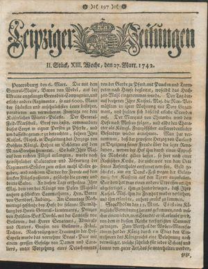 Leipziger Zeitungen vom 27.03.1742