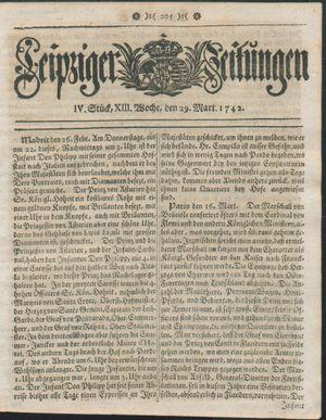 Leipziger Zeitungen vom 29.03.1742