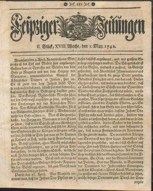 Leipziger Zeitungen on May 1, 1742