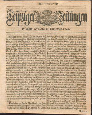 Leipziger Zeitungen vom 03.05.1742