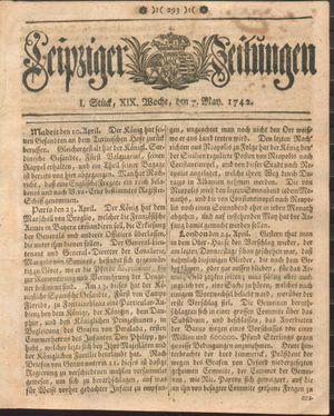Leipziger Zeitungen vom 07.05.1742