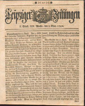 Leipziger Zeitungen vom 08.05.1742