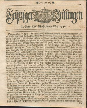 Leipziger Zeitungen vom 09.05.1742