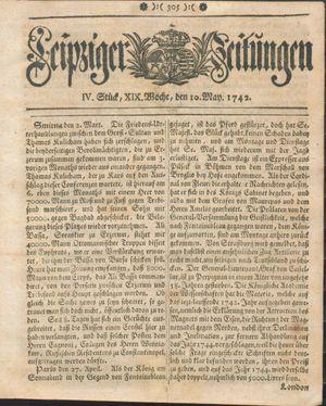 Leipziger Zeitungen vom 10.05.1742