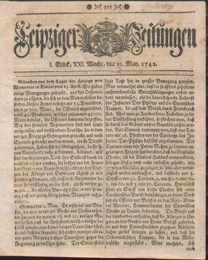 Leipziger Zeitungen vom 21.05.1742