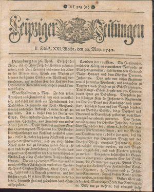 Leipziger Zeitungen vom 22.05.1742