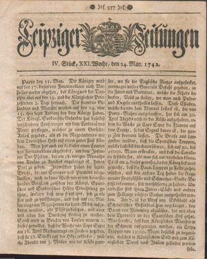 Leipziger Zeitungen vom 24.05.1742