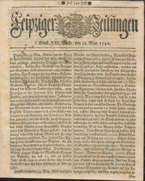 Leipziger Zeitungen vom 28.05.1742