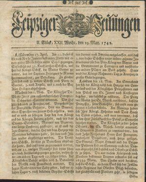 Leipziger Zeitungen vom 29.05.1742