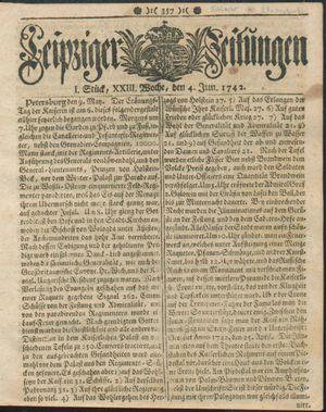 Leipziger Zeitungen vom 04.06.1742