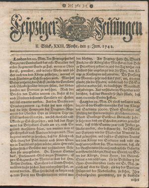 Leipziger Zeitungen vom 05.06.1742