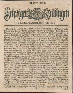 Leipziger Zeitungen vom 06.06.1742