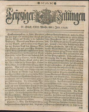 Leipziger Zeitungen vom 07.06.1742