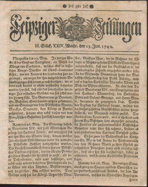 Leipziger Zeitungen vom 13.06.1742