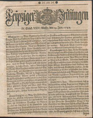 Leipziger Zeitungen on Jun 14, 1742