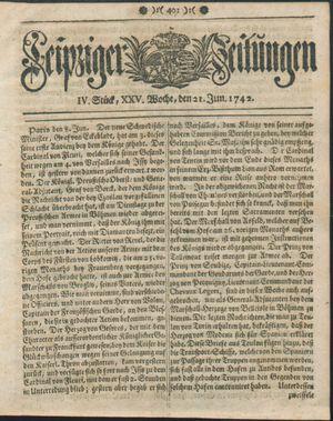 Leipziger Zeitungen vom 21.06.1742