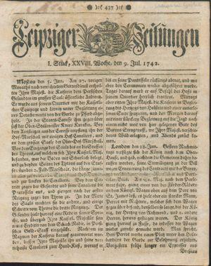 Leipziger Zeitungen vom 09.07.1742