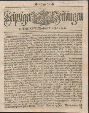 Leipziger Zeitungen on Jul 11, 1742