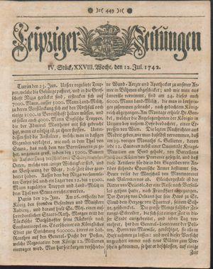 Leipziger Zeitungen vom 12.07.1742
