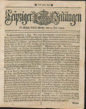 Leipziger Zeitungen vom 19.07.1742