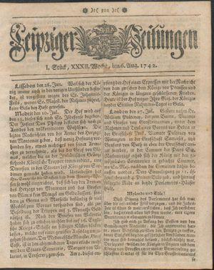 Leipziger Zeitungen vom 06.08.1742