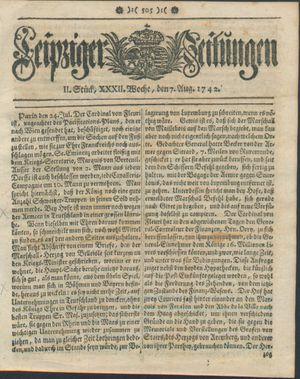 Leipziger Zeitungen on Aug 7, 1742