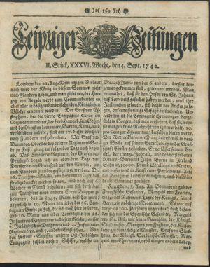 Leipziger Zeitungen vom 04.09.1742