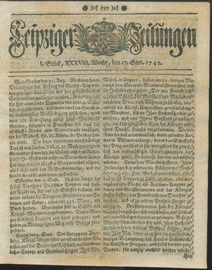 Leipziger Zeitungen vom 17.09.1742