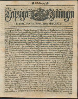 Leipziger Zeitungen vom 18.09.1742