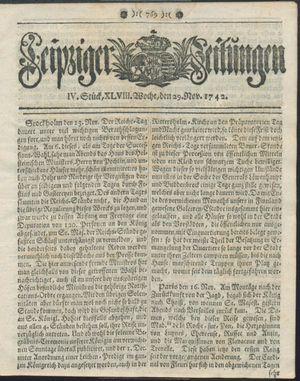 Leipziger Zeitungen on Nov 29, 1742
