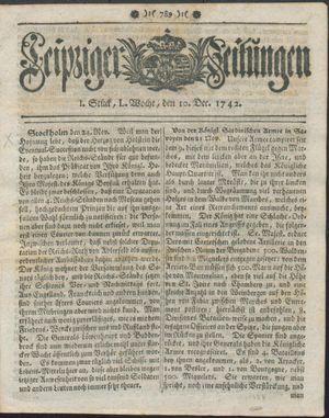 Leipziger Zeitungen vom 10.12.1742