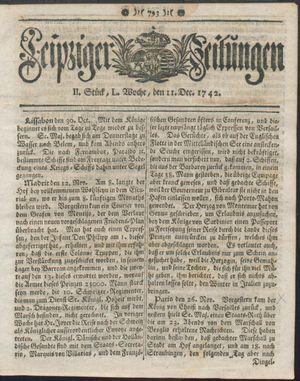Leipziger Zeitungen vom 11.12.1742