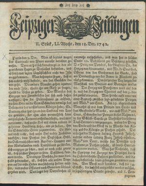 Leipziger Zeitungen vom 18.12.1742