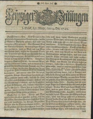 Leipziger Zeitungen vom 24.12.1742