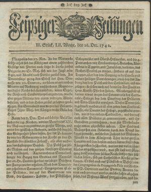 Leipziger Zeitungen vom 26.12.1742