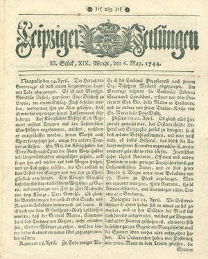 Leipziger Zeitungen vom 06.05.1744
