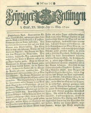 Leipziger Zeitungen vom 11.05.1744