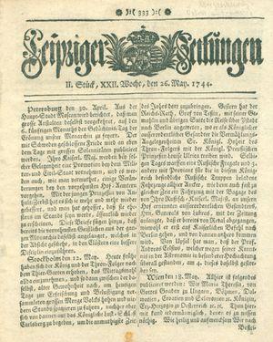 Leipziger Zeitungen vom 26.05.1744