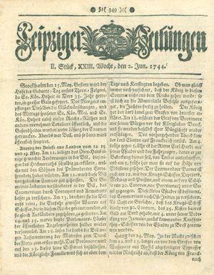 Leipziger Zeitungen vom 02.06.1744